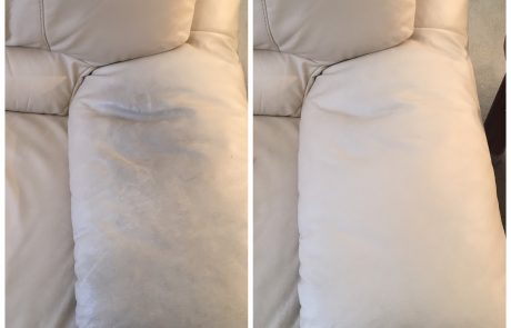 leather upholstery cleaning before and after