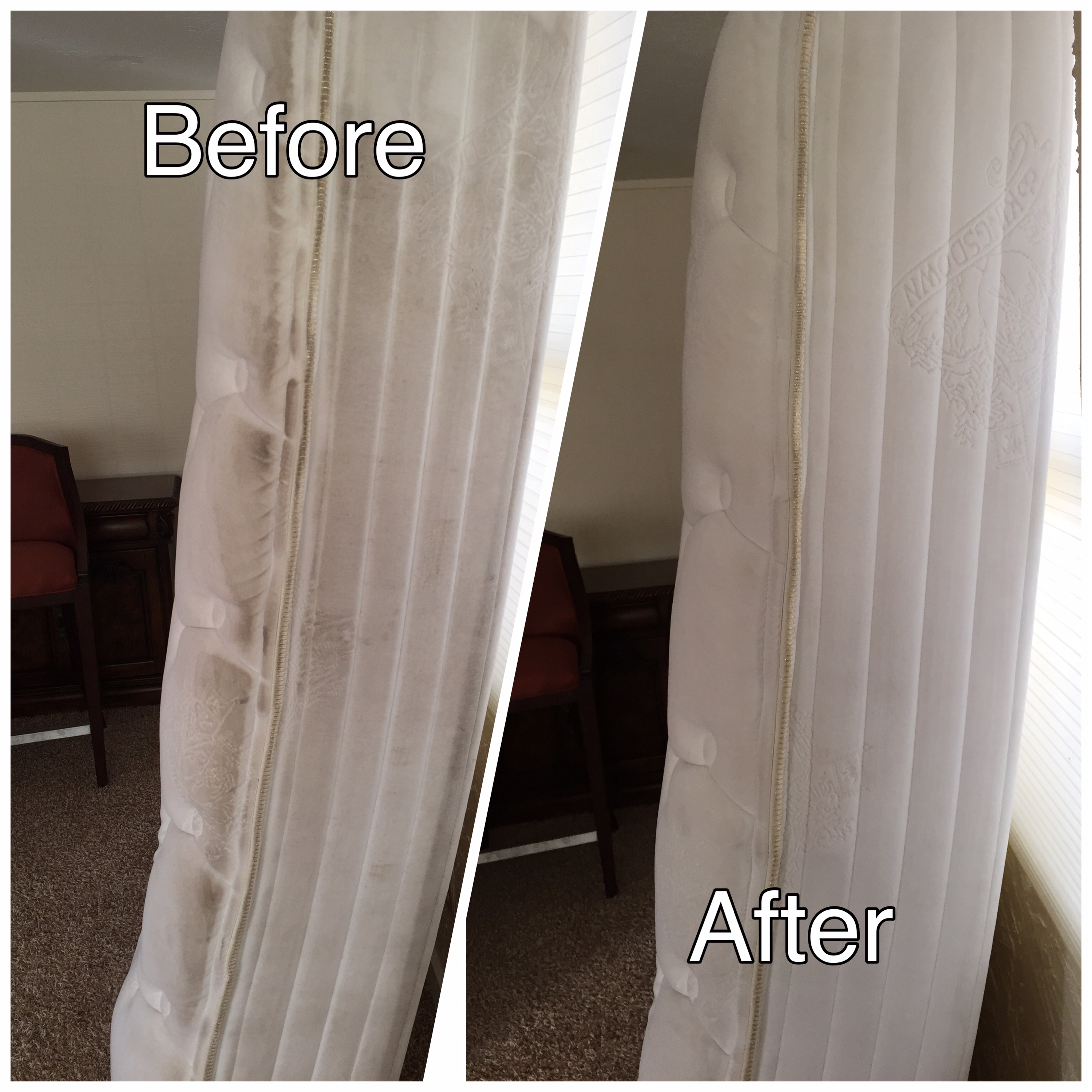 Mattress Cleaning Before and After Photos
